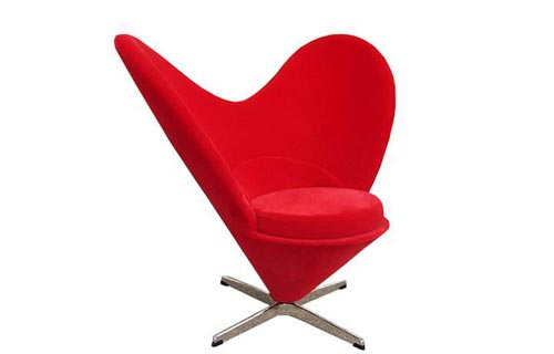 casain3mosse - poltrona heart shaped cone chair