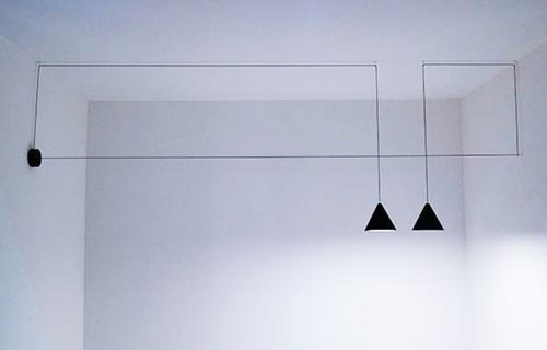 "casain3mosse - lampade a soffitto ""String Lights"" Michael Anastassiades"